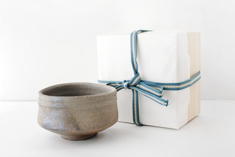 平岡仁 青備前茶碗